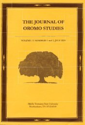 JOS volume 14 Number 1 (2007) pdf - Oromo Studies Association