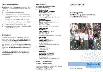 Flyer - Diakonie Ruhr-Hellweg e.V.
