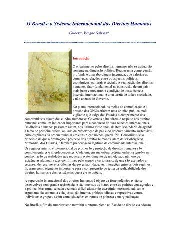 O Brasil eo Sistema Internacional dos Direitos Humanos - Livros Grátis