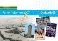 Ferienfreizeiten 2007 - Diakonie Ruhr-Hellweg e.V.