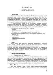 Protocol cancerul ovarian - Spitalul Clinic Municipal de Urgenta ...
