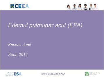 Edemul pulmonar acut (EPA)