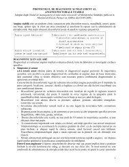 Protocol de diagnostic si tratament al anginei pectorale stabile l