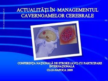 Actualitati in managementul cavernoamelor cerebrale