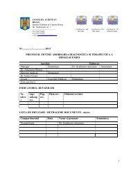 protocol pentru abordarea, diagnostică şi terapeutică a hipoglicemiei