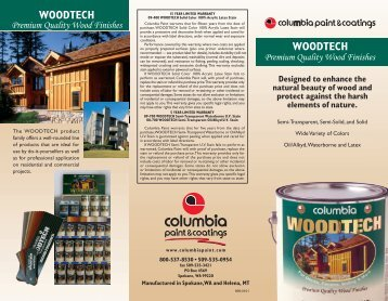 WOODTECH WOODTECH - Columbia Paint and Coatings