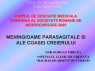 meningioame parasagitale si de coasa - Spitalul Clinic de Urgenta ...