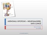 ADENOMUL HIPOFIZAR – NEUROIMAGERIE, DATE CLINICE