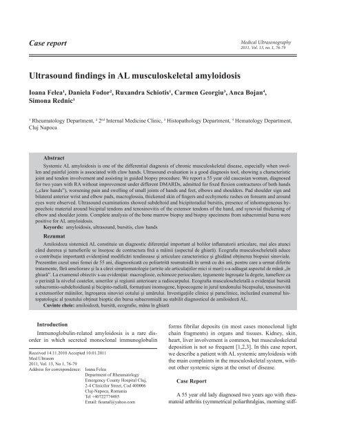 diagnostic diferențial al bolilor articulare agent de întărire a oaselor