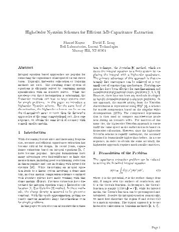 High-Order Nystrom Schemes for Efficient 3-D - Integrand Software