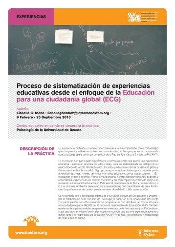 Proceso de sistematización de experiencias educativas ... - Kaidara