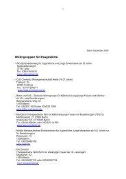 Wohngruppen für Essgestörte - Dick & Dünn eV