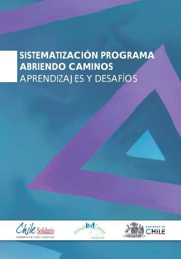 Sistematización Programa Abriendo Caminos - Chile Solidario