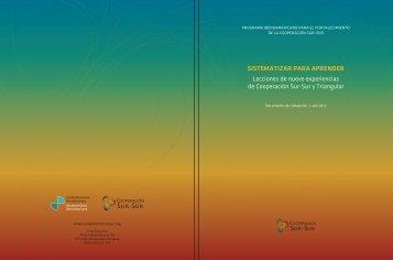 Sistematizar para aprender - Cooperación Sur-Sur