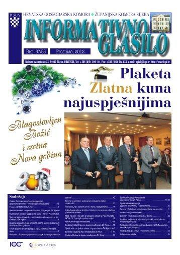 Bilten 87-88 - Hrvatska gospodarska komora