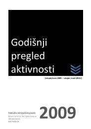 Izvješće o radu Federalnog ministarstva pravde za 2009