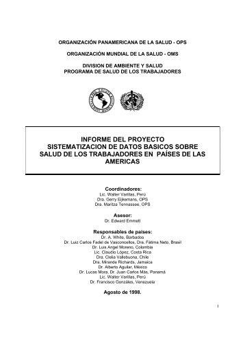 informe del proyecto sistematizacion de datos basicos sobre