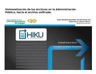 Sistematización de los Archivos en la Administración Pública, hacia ...