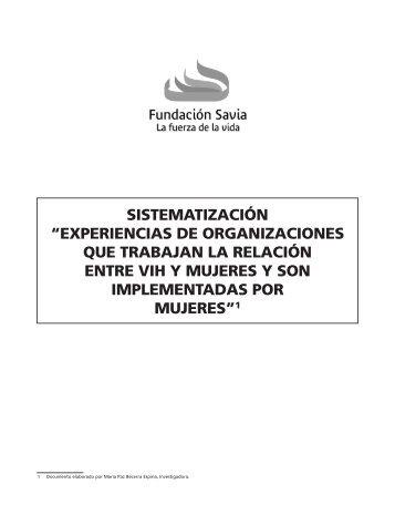 """SISTEMATIZACIÓN """"EXPERIENCIAS DE ... - Fundación Savia"""