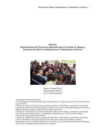 PINCEL: Sistematización del Proyecto de Educación para la ...