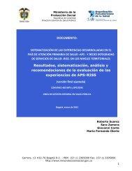 DOCUMENTO: Resultados, sistematización, análisis y ...