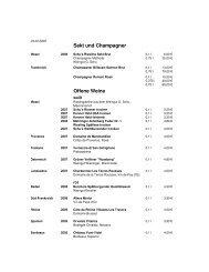 Sekt und Champagner Offene Weine - Die Insel