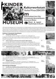 KINDER MUSEUM im - Die Neue Sammlung