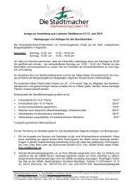 Anlage zur Anmeldung zum Lohmarer Stadtfest am 12./13. Juni ...