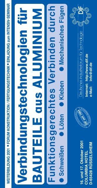 Aluminium - Deutsches Industrieforum für Technologie