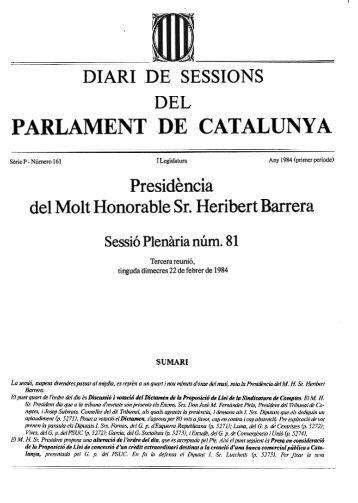 i que - Parlament de Catalunya