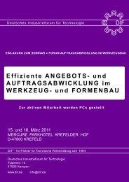 Effiziente ANGEBOTS - Deutsches Industrieforum für Technologie