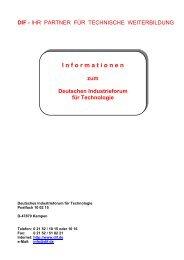 I n f o r m a t i o n e n - Deutsches Industrieforum für Technologie
