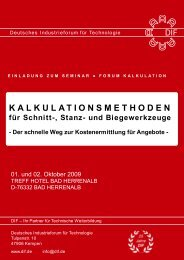 dif kalkulationsmethoden - Deutsches Industrieforum für Technologie