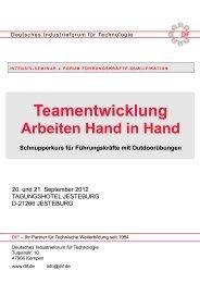 Ausführliche Programmfolge - Deutsches Industrieforum für ...