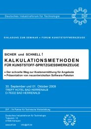 kalkulationsmethoden - Deutsches Industrieforum für Technologie