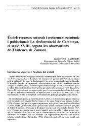 La desforestació de Catalunya, el segle XVIII, segons les ...