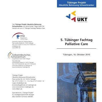 5. Tübinger Fachtag Palliative Care - Deutsches Institut für Ärztliche ...