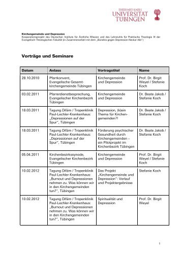 Vorträge und Seminare - Deutsches Institut für Ärztliche Mission eV