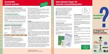 Leitlinien für Arzneimittelspenden - Deutsches Institut für Ärztliche ...
