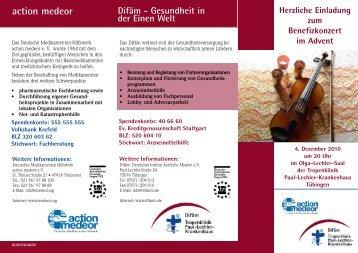action medeor - Deutsches Institut für Ärztliche Mission eV
