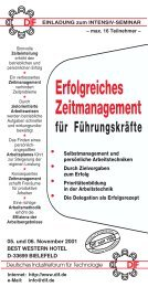 70-23#Zeitmanagement - Deutsches Industrieforum für Technologie