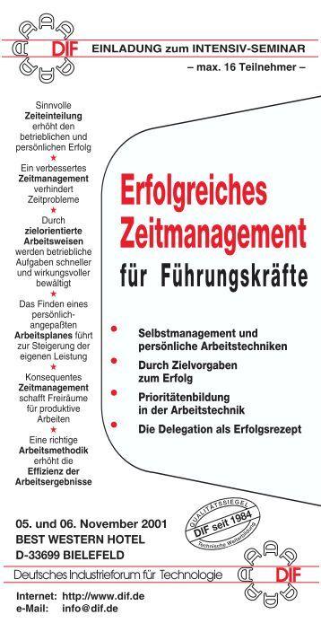 70-23#Zeitmanagement - Deutsches Industrieforum für Technologie