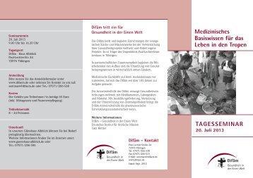 Gesundheit in der Einen Welt - Deutsches Institut für Ärztliche ...