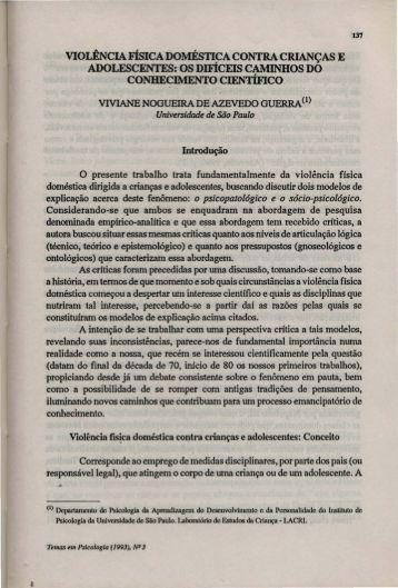 VIOLtNCIA FisICADOMÉSTICA CONTRA CRIANÇAS E