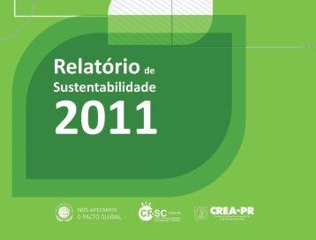 Relatório de Sustentabilidade 2011 - Crea-PR