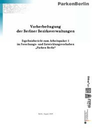 Vorherbefragung der Berliner Bezirksverwaltungen - Difu