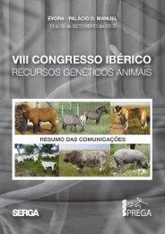 abstracts viii congresso iberico recursos geneticos animais - sprega