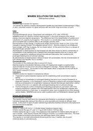 MINIRIN SOLUTION FOR INJECTION - Medsafe