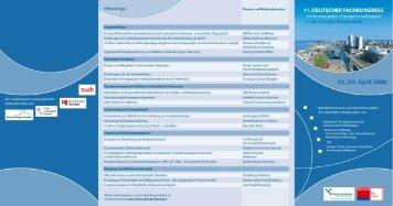 Flyer zum Fachkongress mit Workshops, Programm und ... - Difu