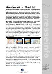 Sprachurlaub mit Meerblick - Digital Publishing